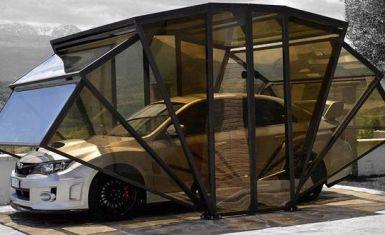 Конструкции портативных гаражей для авто