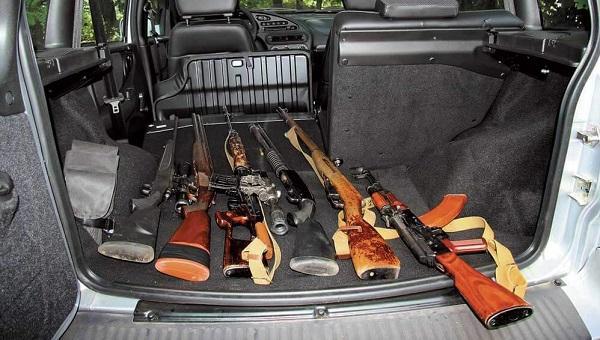 Перевозка ружья в машине