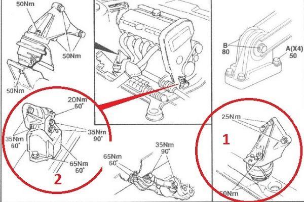 Замена подушек двигателя, как заменить подушки двигателя своими руками