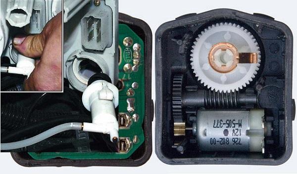 Автоматический и электромеханический корректор фар: почему не работает, ремонт и установка