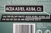 ACEA классификация масел