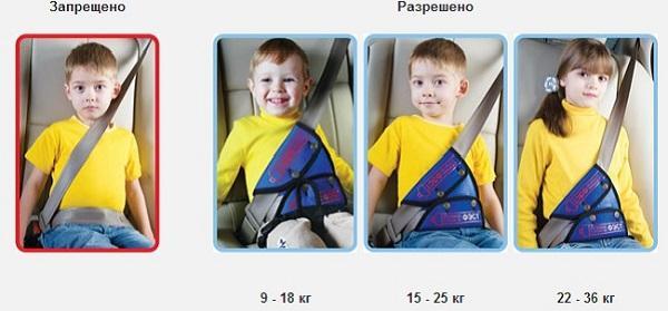устройство для детей в машине