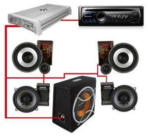 схема установки аудиосистемы