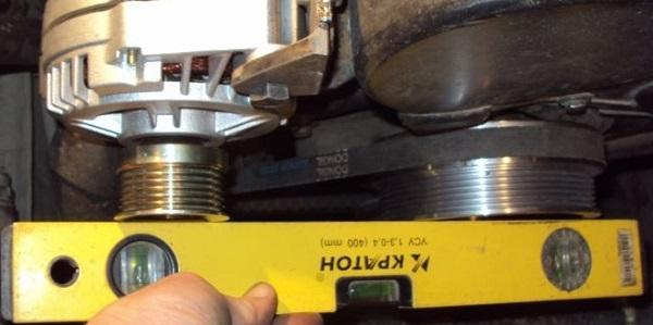 как измерить соосность шкивов