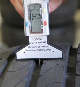 определение уровня износа шин