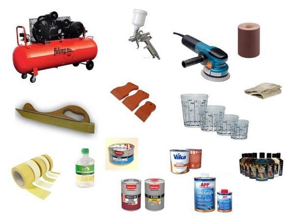 материалы для покраски автомобиля
