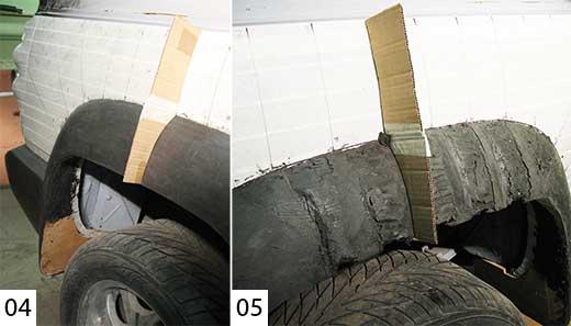 расширители колесных арок из пластилина