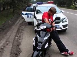 штраф за вождение мопеда без прав