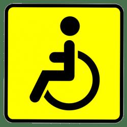 Езда со знаком инвалид