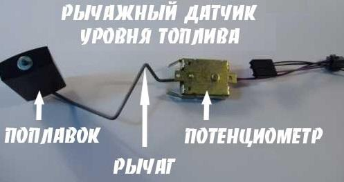 принцип работы датчика уровня топлива