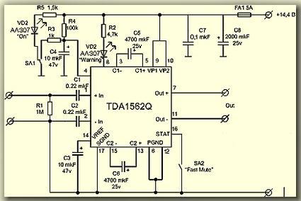 УМЗЧ TDA1562Q