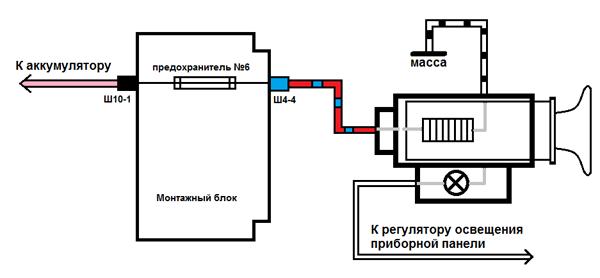 схема прикуривателя