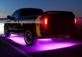 Неоновая подсветка салона и днища авто