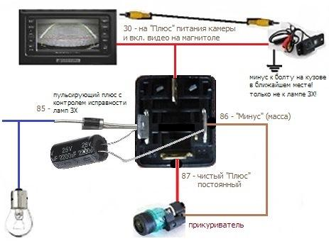 подключение камеры заднего вида