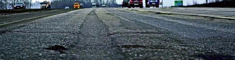 колейность на дороге